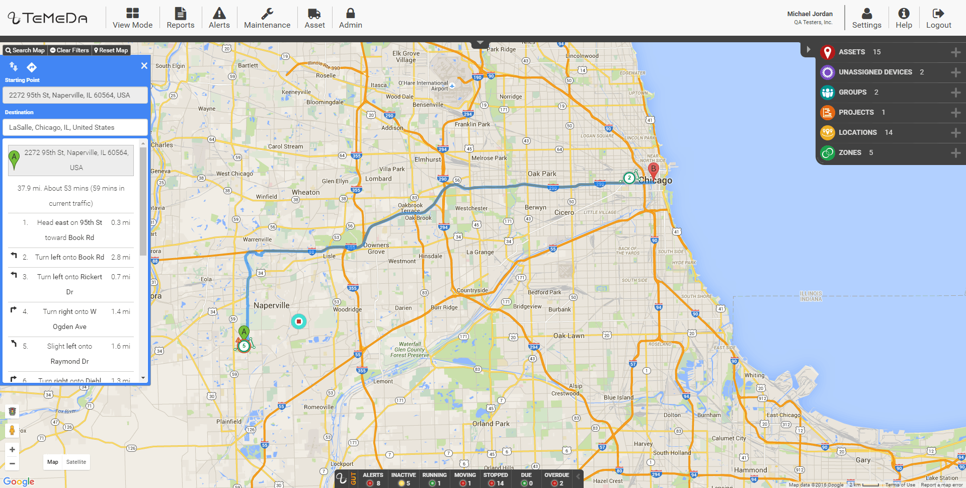 The Directions feature adds driver directions into the Temeda app.