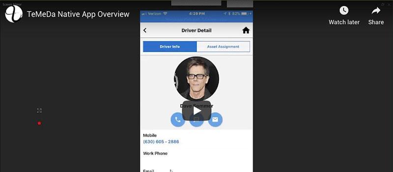 Temeda Native App Overview