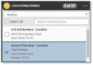Location Filter by Type