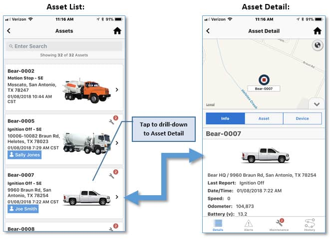 Asset Detail Native App