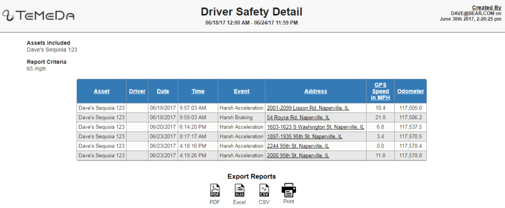 Driver Safety Detail